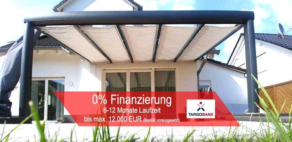 Terrassenüberdachung und Wintergarten mit 0% Finanzieren